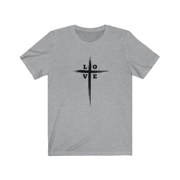 Love Cross | Cross T-Shirt | Love & The Cross T-shirt | L-O-V-E Cross | 18078 6