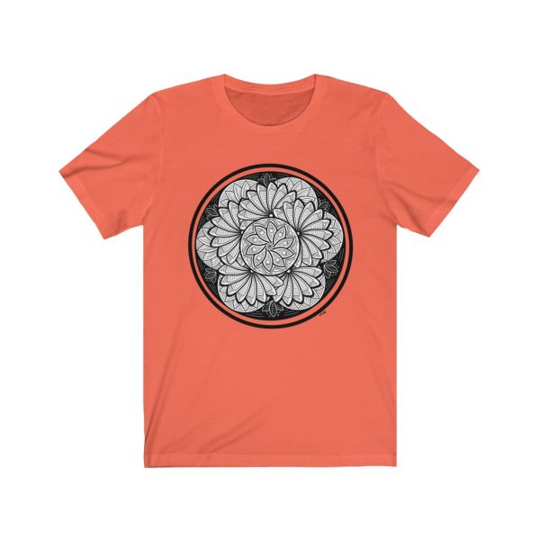 Zen Doodle Petals - Unisex Jersey Short Sleeve Tee | 18134 4