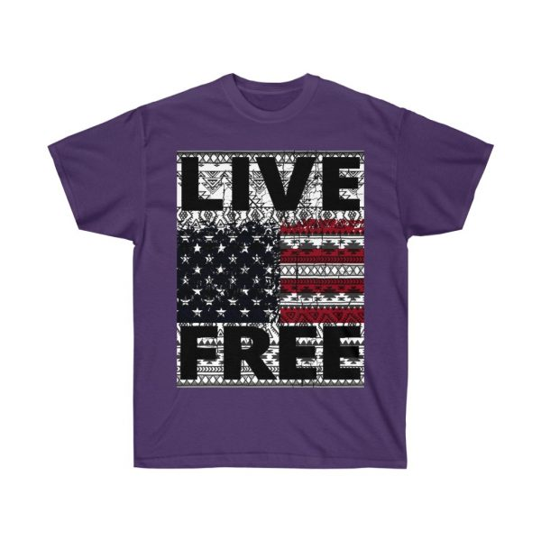 Live Free - USA Inspired - Unisex Ultra Cotton Tee | 21969 5