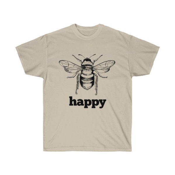 Bee Happy! Be Happy - Unisex Ultra Cotton Tee | 22009 1