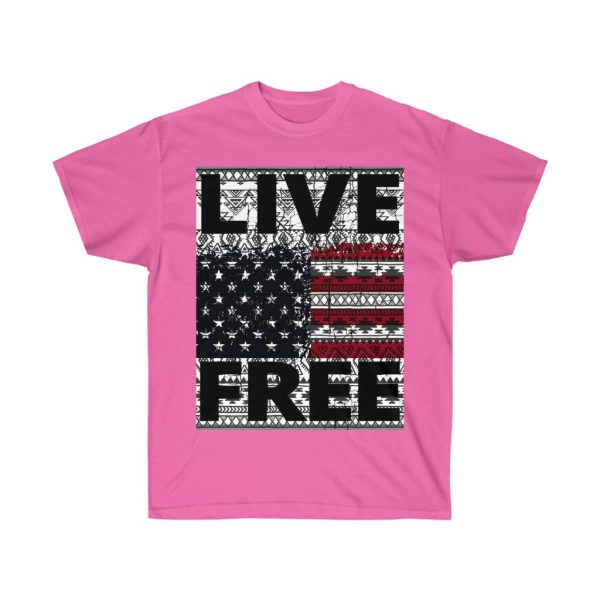 Live Free - USA Inspired - Unisex Ultra Cotton Tee | 22081 4