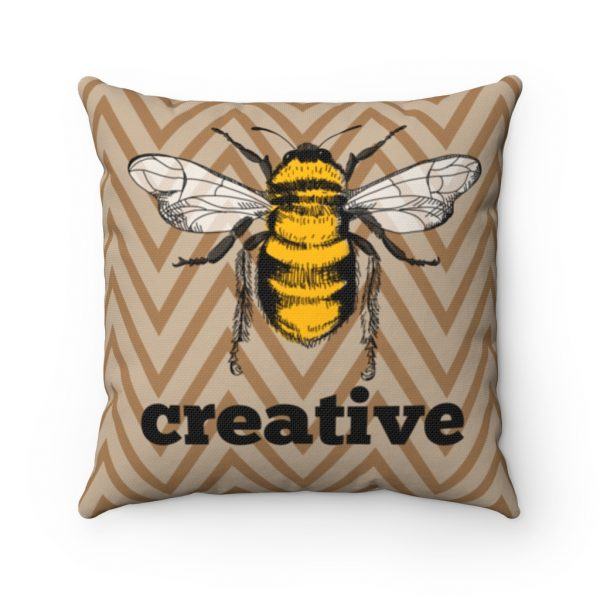 Bee Creative Square Pillow | 41521 3