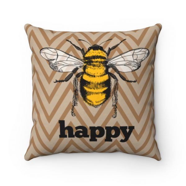Bee Happy Square Pillow | 41521 6