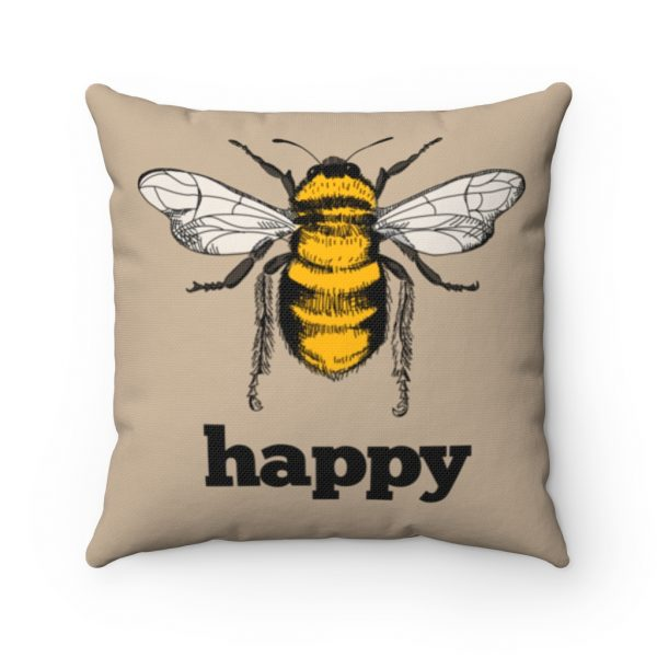 Bee Happy Square Pillow | 41521 8