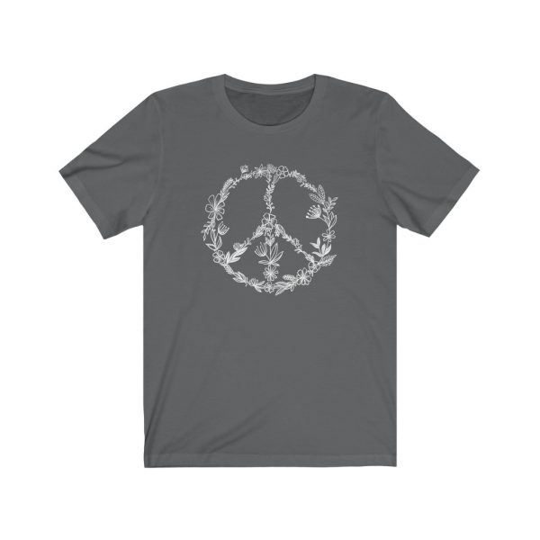 Floral Peace Sign - Hand Drawn - T-shirt   Floral Peace Tee   18070 3