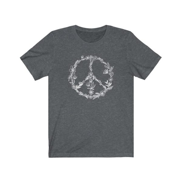 Floral Peace Sign - Hand Drawn - T-shirt   Floral Peace Tee   18150 10