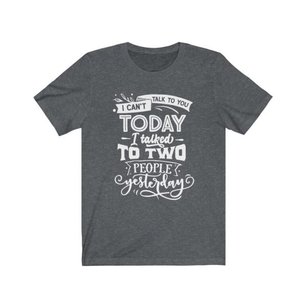 I Can't Talk To you Today, I talked to two people yesterday | T-shirt | Tee | 18150 12