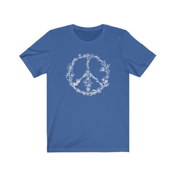 Floral Peace Sign - Hand Drawn - T-shirt   Floral Peace Tee   18518 10