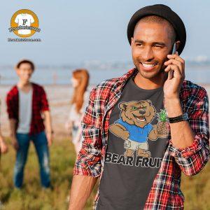 "man wearing a t-shirt that says ""Bear Fruit"""