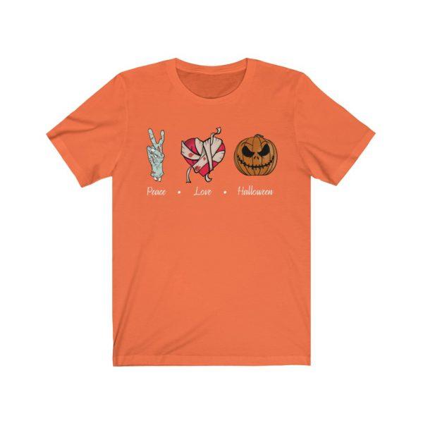 Peace, Love & Halloween T-shirt | 18422 1