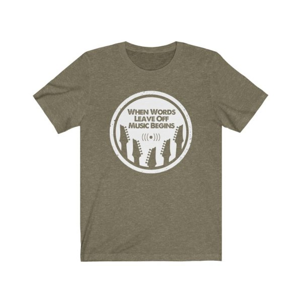 When words leave off music begins | T-shirt | 39562 1