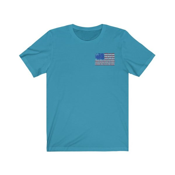 United States Flag T-shirt with the Names of the States | Front and Back Design | 18054 3