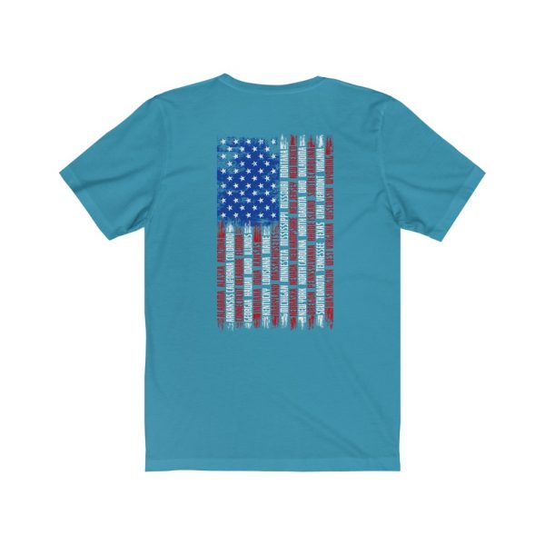 United States Flag T-shirt with the Names of the States | Front and Back Design | 18054 4