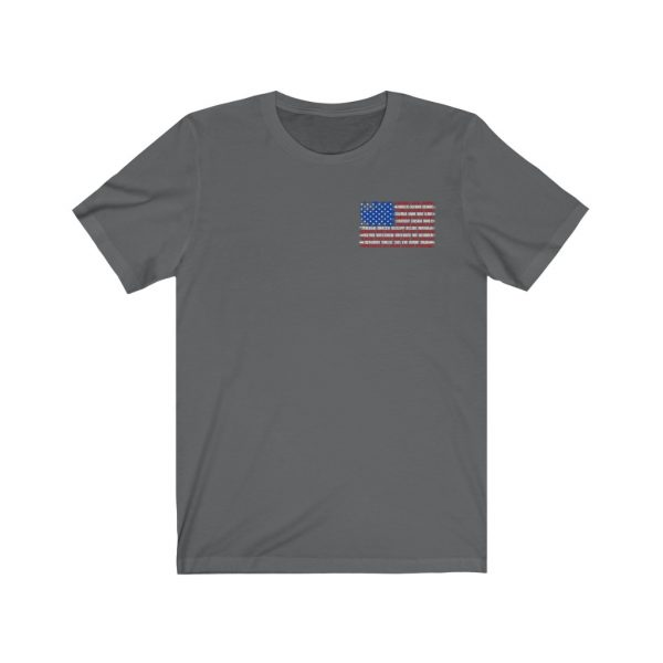 United States Flag T-shirt with the Names of the States | Front and Back Design | 18070 3