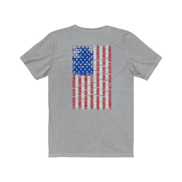 United States Flag T-shirt with the Names of the States | Front and Back Design | 18078 4