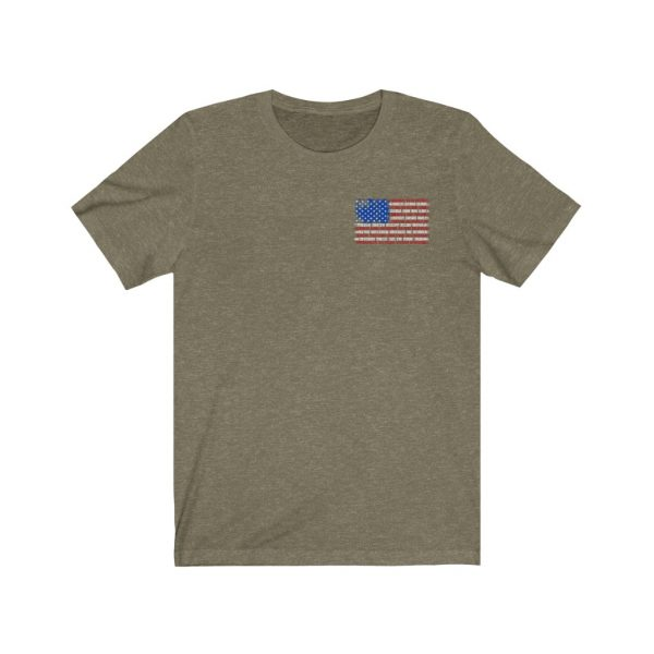 United States Flag T-shirt with the Names of the States | Front and Back Design | 39562 2