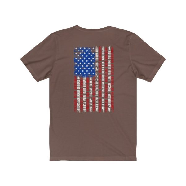 United States Flag T-shirt with the Names of the States | Front and Back Design | 39583 1