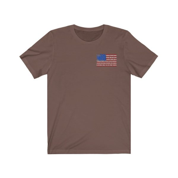 United States Flag T-shirt with the Names of the States | Front and Back Design | 39583